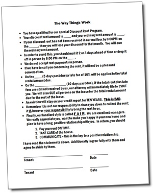 Landlord Form - The Way Things Work